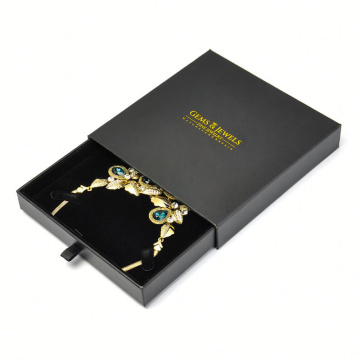 Lager Size Jewellery Black Gift Necklace Box