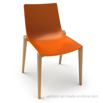 Steady Colorful Leisure Plastic Wooden Dining Chair (SP-UC011)