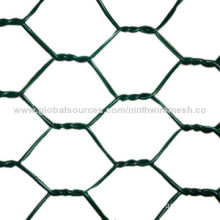 Hexagonal-shaped wire mesh, made of stainless steel