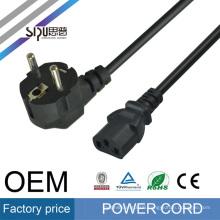 SIPU european standard supply EU plug 3-Prongs ac 13A 220V EU power cord for pc
