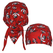 Custom Made Logo Printed Cotton Promotional Dew Rag Biker Sports Headwraps Doo Rag