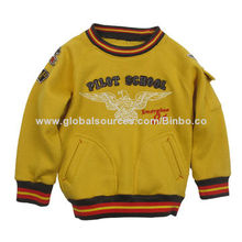 Boys' Warm Casual Blouse (Cotton, Embroidery), Customized Colors and Sizes Welcomed