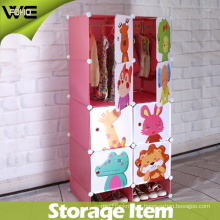 New Model Plastic Folding Wholesale Kids Wardrobe for Bedroom