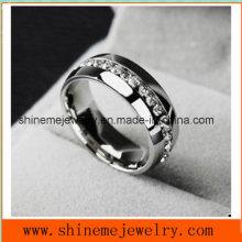 Popular de alta calidad Zircon Anillo de joyas de acero inoxidable