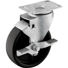 Medium Duty PP Casters with Wheel Brake