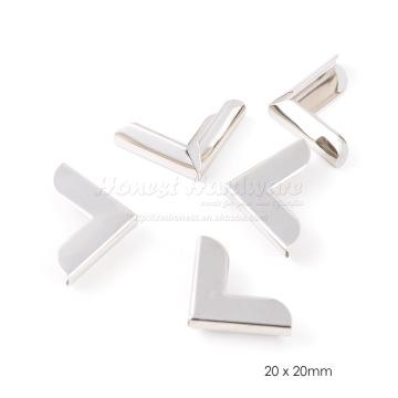 Protetor de canto de metal para moldura da bolsa