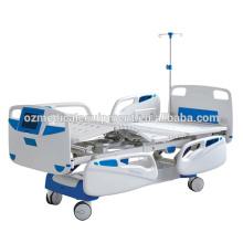 Camas de hospital médicas das alicates dobro ajustáveis com corrimão do ABS