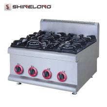 Equipo de cocina comercial SS # 304 4 quemador estufa eléctrica