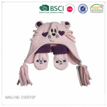 Kids Cute Fleece Hat Gloves Set