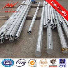 Octogonal 11.8m 500dan Galvanized Steel Electric Pole for Power Transmission
