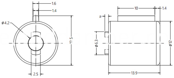 Soft Close Damper Drawing of DY12B