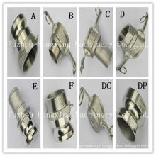 Acoplamento de liberação rápida de acoplamento de aço inoxidável