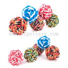 PET Braided Cotton Rope Ball Dog Toy Teeth Cleaning
