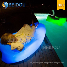 LED Lighted Square Lazy Sofa Inflatable Air Bed Sleeping Bag