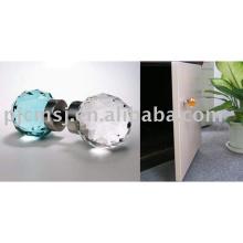 2018 popular porta mobiliário conjuntos de hardware botão de porta de cristal