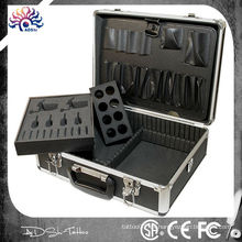 Kit de Tatuaje de Aluminio Kit Travelling Convention Carry, kit de tatuaje Caja de Aluminio Tattoo Gun Box Supply Kit, Kit de Tatuaje de Aluminio Set