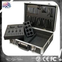 Kit de tatuagem de alumínio caso viajar convenção transportar, kit de tatuagem caso de alumínio tatuagem arma kit de fornecimento de caixa, kit de tatuagem de alumínio kit