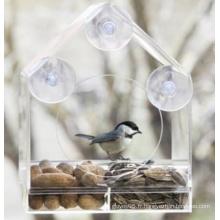 Alimentateur d'oiseaux à fenêtre acrylique amovible (ymb6022)