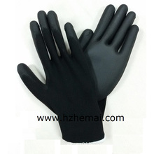 Black Palm PU Coating Safety Nylon Work Glove PU Gloves