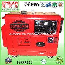 Gerador diesel elétrico amarelo vermelho refrigerar de água 6kw