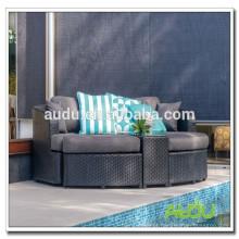Audu mobiliário de exterior estilos europeus venda quente camas bonitas