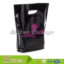 Factory Wholesale Heavy Duty Custom Colored Black Biodegradable Polythene Die Cut Handle Small Plastic Bags