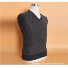 Bn1505 Yak Wolle / Kaschmir V-Ausschnitt Pullover Langarm Pullover / Kleidung / Garment / Strickwaren