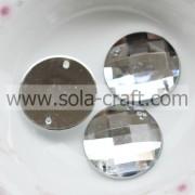 Wholesale 500Pcs 20MM Faceted Acrylic Flat Back Rhinestone & DIY Craft Flatback Beads