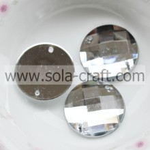 16MM White Shinny Plastic White Diamond Faceted Bead For Making Necklace
