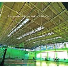 Construction en acier à faible coût Construction de toit en treillis pour panier Cour de bal