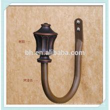 Pequeno, bronze, cortina, faixa, ganchos
