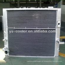 Trocador de calor de água de óleo de placa-aleta de alumínio