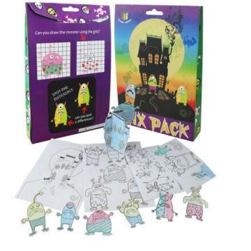 Halloween kids painting 3D paper puzzle kids value mix set