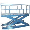 Stationary hydraulic mini wheel alignment scissor car lift