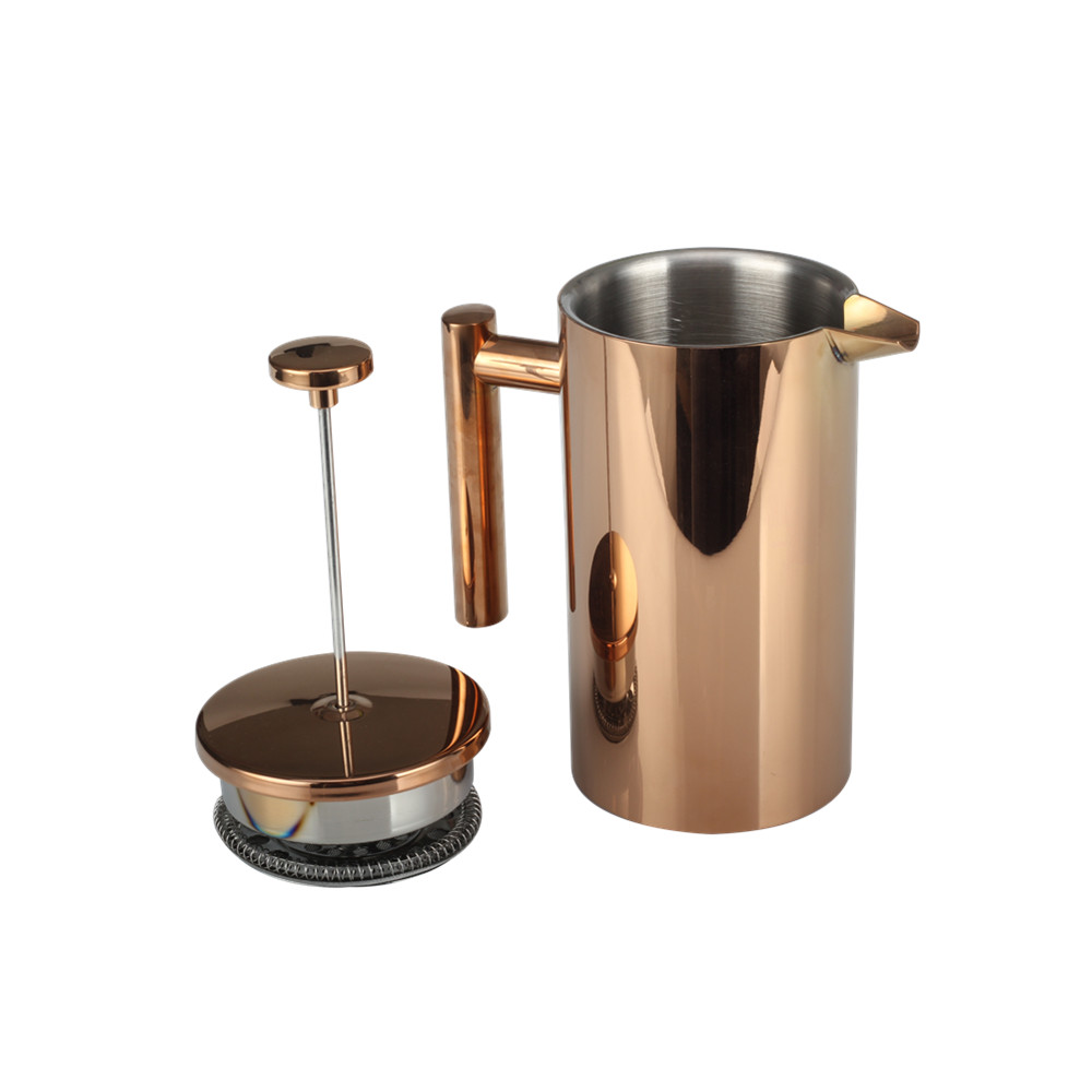 Champange Gold Double Wall French Press