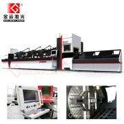 2000W CNC Fiber laserskärmaskin för tub