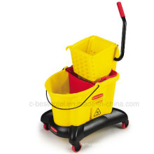 Plastic Side Press Double Bucket Mop Wringer