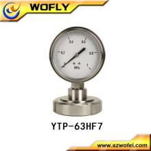 shock-proof steam boiler diaphragm pressure gauge
