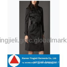 Fashion Office Uniforms Cashmere Coat For Women Sexy Winter Coat