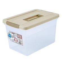 Recipiente de caixa de armazenamento de cristal de casa de plástico para casa (SLSN021)