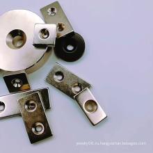 Дисковое кольцо Неодимовый магнит с отверстием для винта с потайной головкой