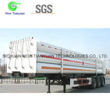 CNG Medium 9-Tube Long Cylinder Semirremolque Contenedor