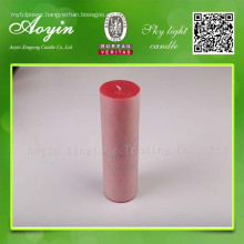 7.5X10  Red Paraffin Wax Pillar Candle
