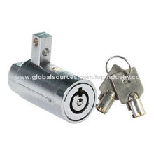 T-handle Cylinder Lock for Vending Machine Lock, Made of Zinc Alloy, Steel Materials
