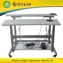 Escritorio movible del monitor 2015 del hospital escritorio eléctrico ajustable del escritorio de la altura del doble del lado del axim