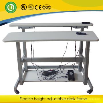 2015 подвижные монитор стационарного рабочий стол электрический аксим двухсторонний регулируемый по высоте стол рамка