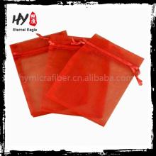 High quality beautiful flat bottom organza bags