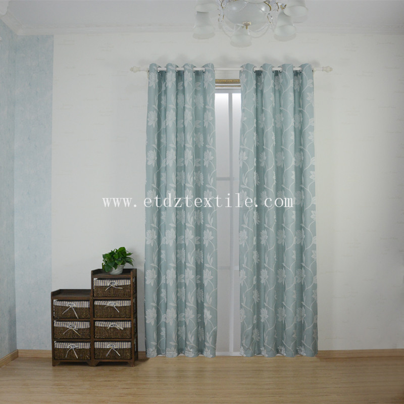 Top Sell Flower Jacquard Curtain Fabric