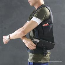 Nylon tático campo CS exterior único saco de ombro escondido estilo Black