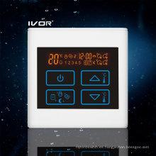 Interruptor táctil programable de termostato térmico de plástico marco (SK-HV2300-L)